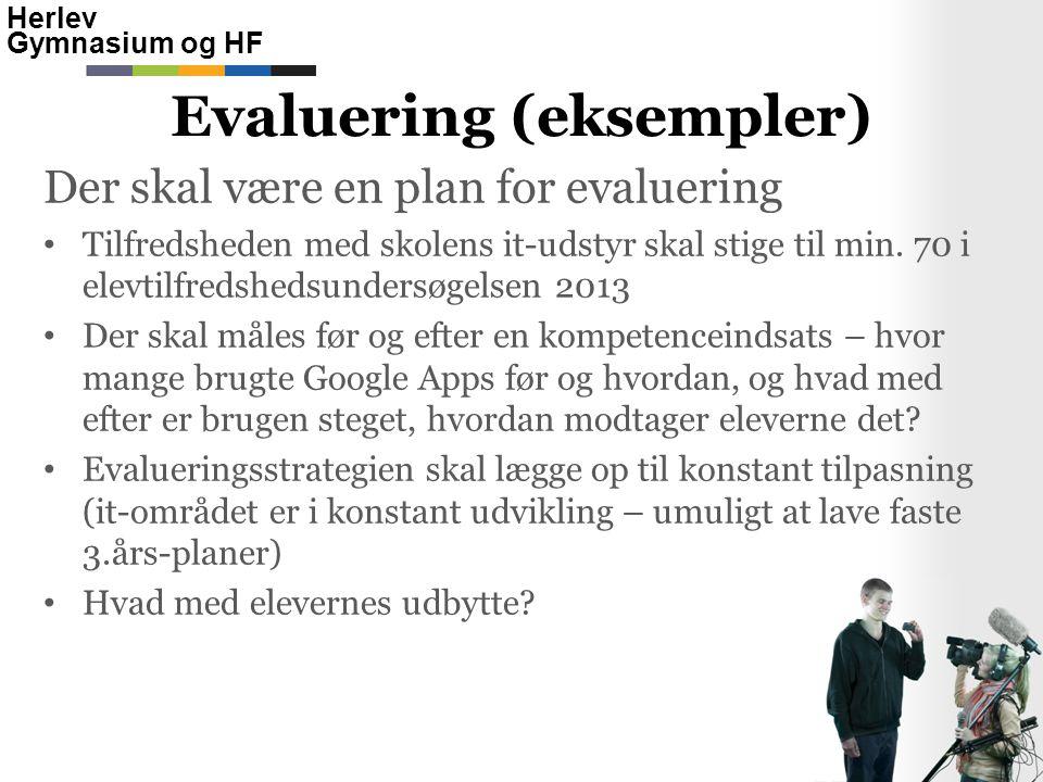 Evaluering (eksempler)