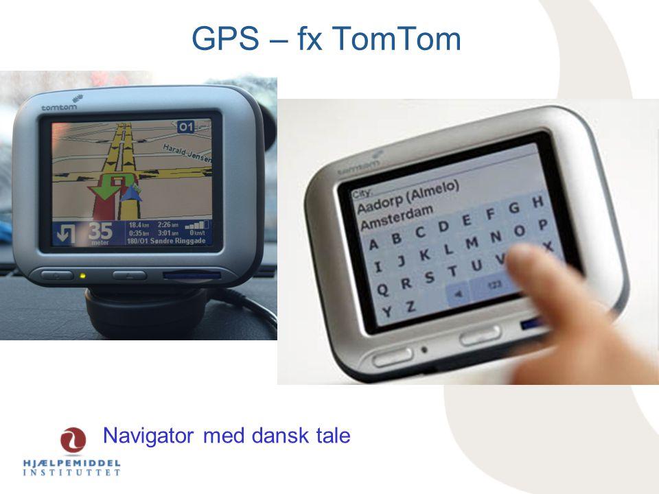 GPS – fx TomTom Navigator med dansk tale