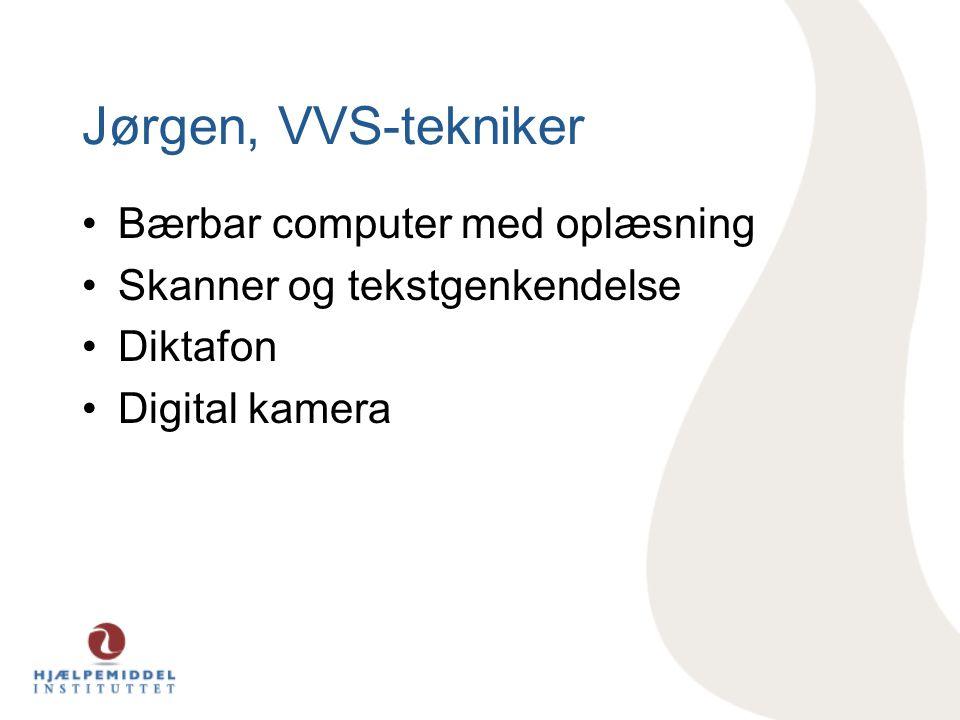 Jørgen, VVS-tekniker Bærbar computer med oplæsning