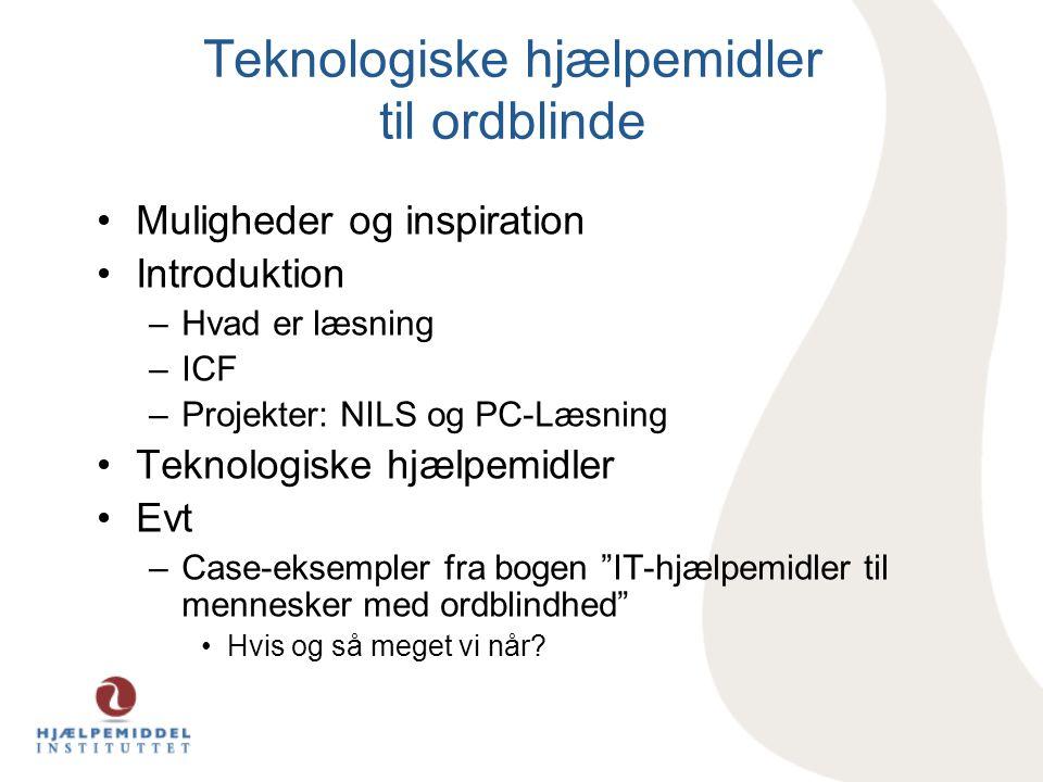 Teknologiske hjælpemidler til ordblinde