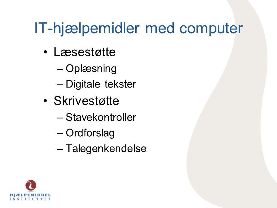 IT-hjælpemidler med computer