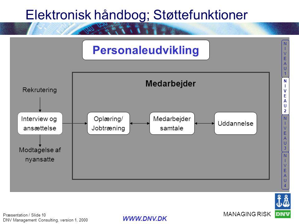 Elektronisk håndbog; Støttefunktioner