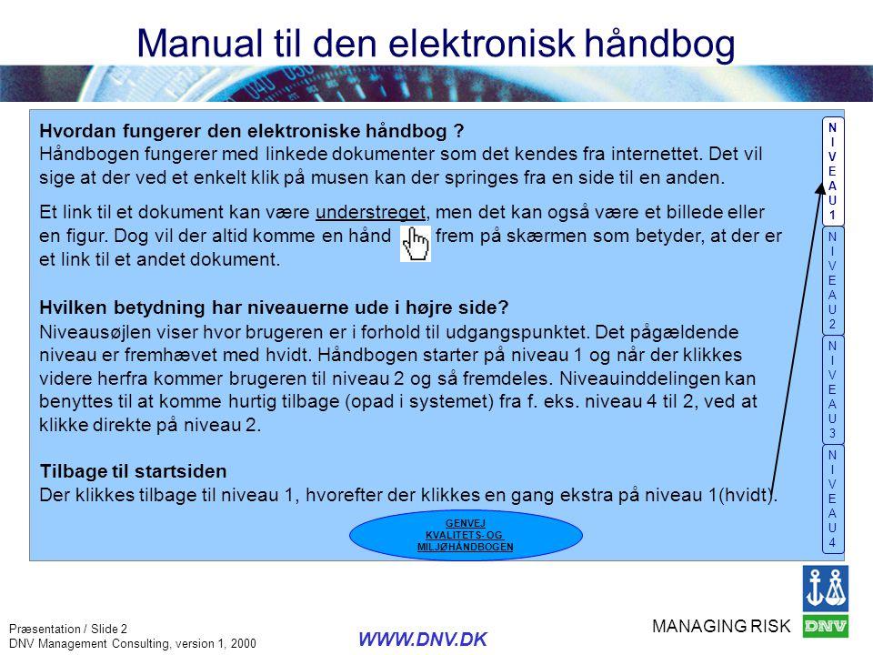 Manual til den elektronisk håndbog