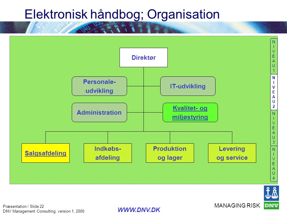 Elektronisk håndbog; Organisation