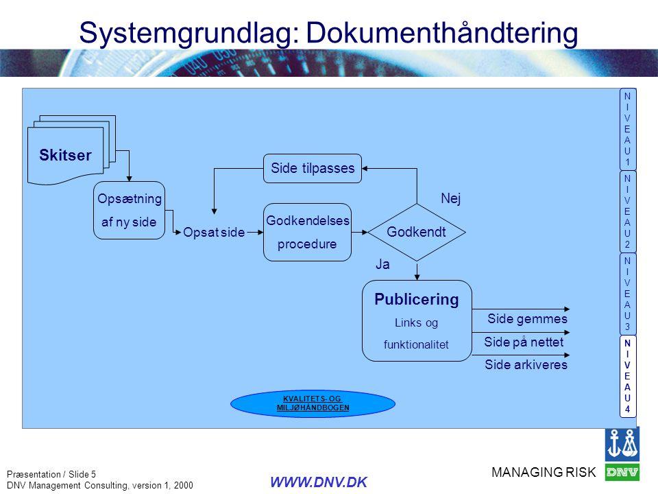 Systemgrundlag: Dokumenthåndtering
