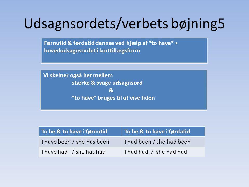 Udsagnsordets/verbets bøjning5