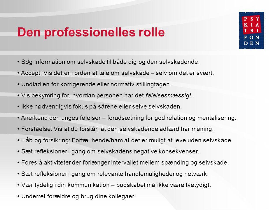 Den professionelles rolle
