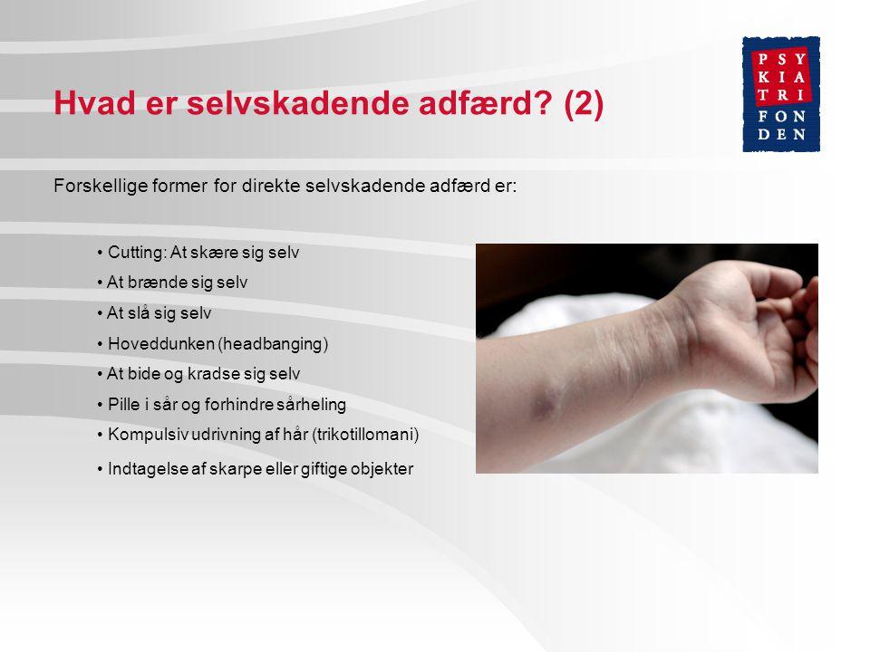 Hvad er selvskadende adfærd (2)