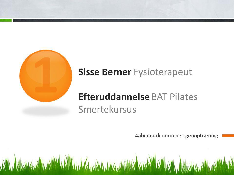 Sisse Berner Fysioterapeut Efteruddannelse BAT Pilates Smertekursus