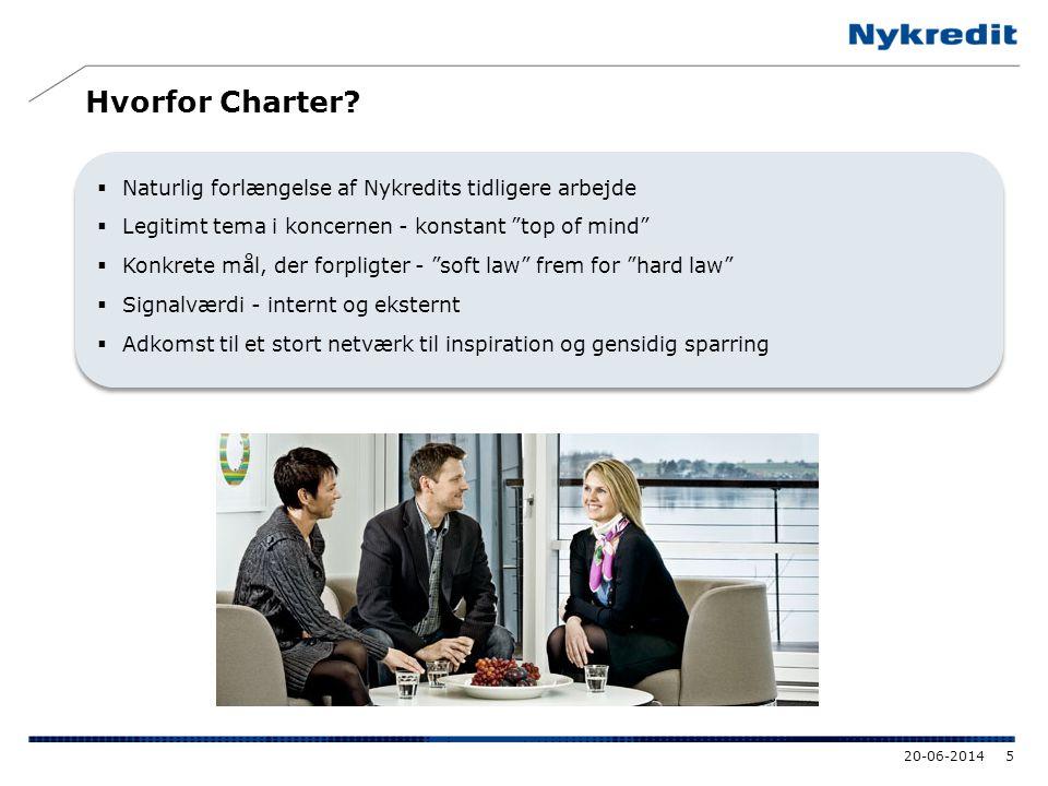 Hvorfor Charter Naturlig forlængelse af Nykredits tidligere arbejde