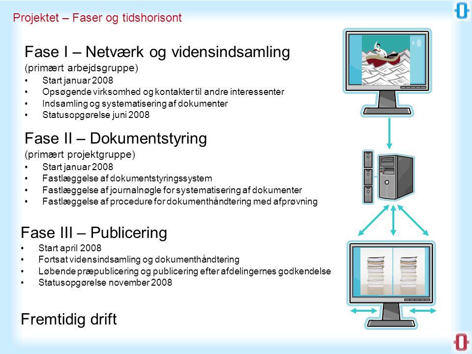 Fase I – Netværk og vidensindsamling