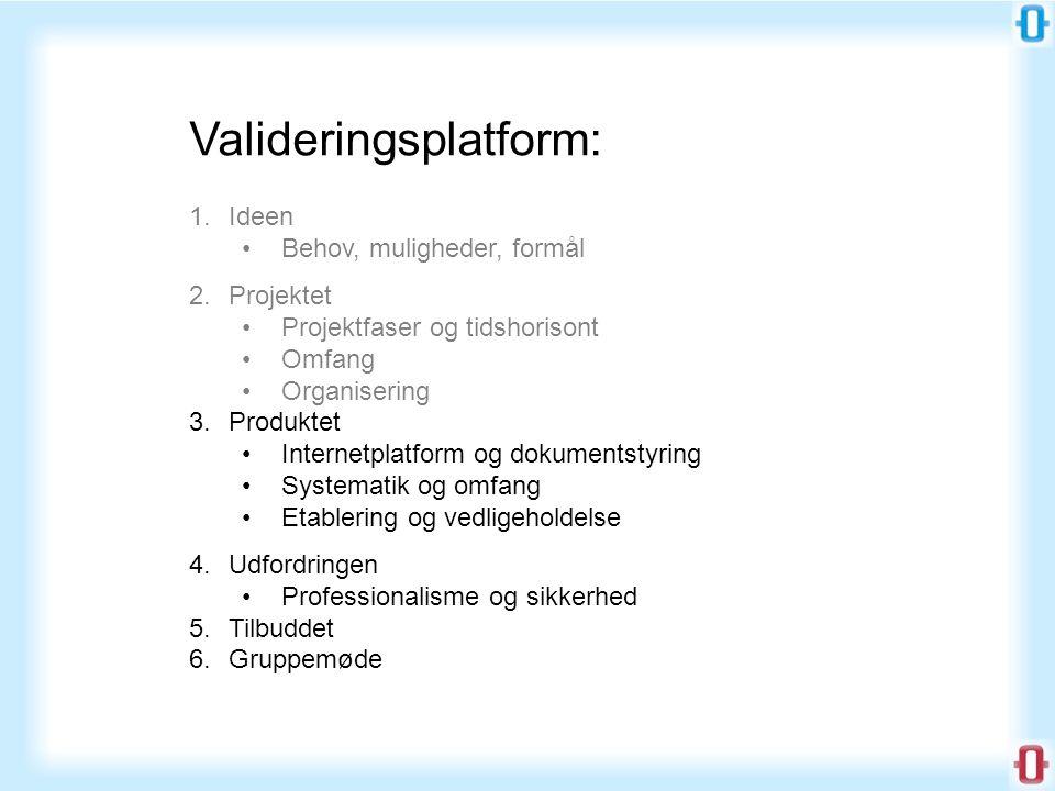 Valideringsplatform: