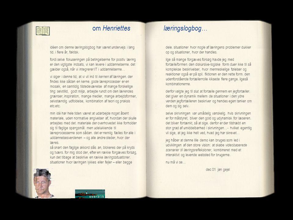 om Henriettes læringslogbog…