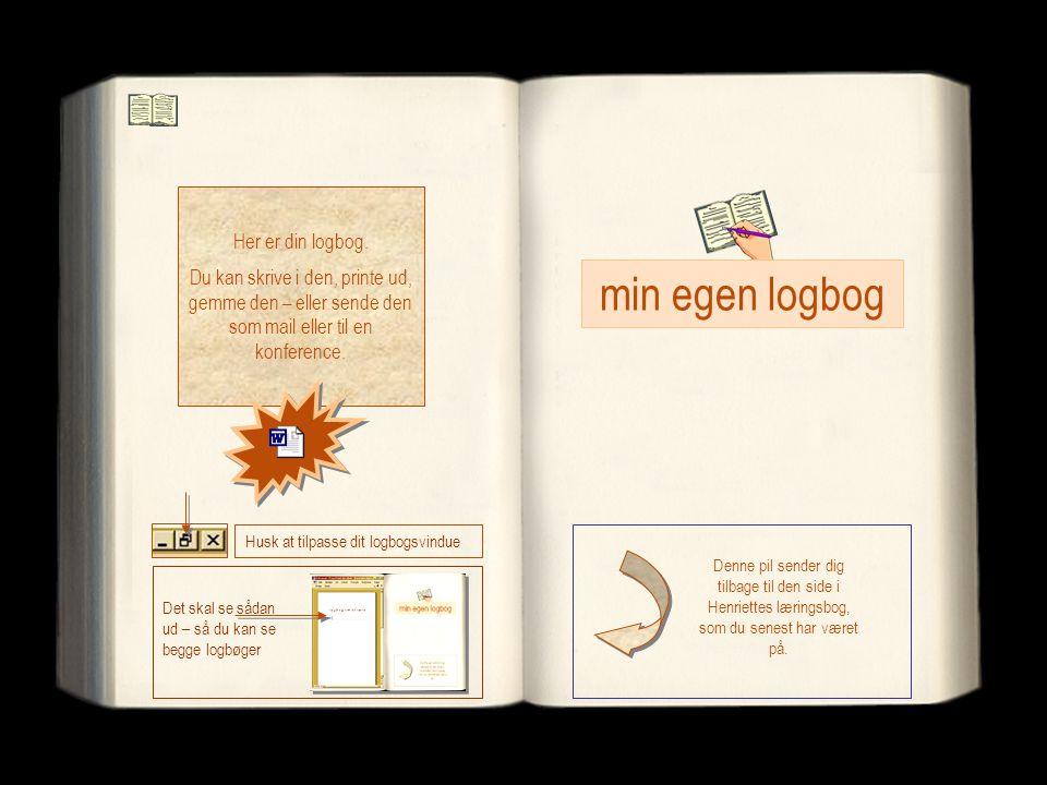 min egen logbog Her er din logbog.