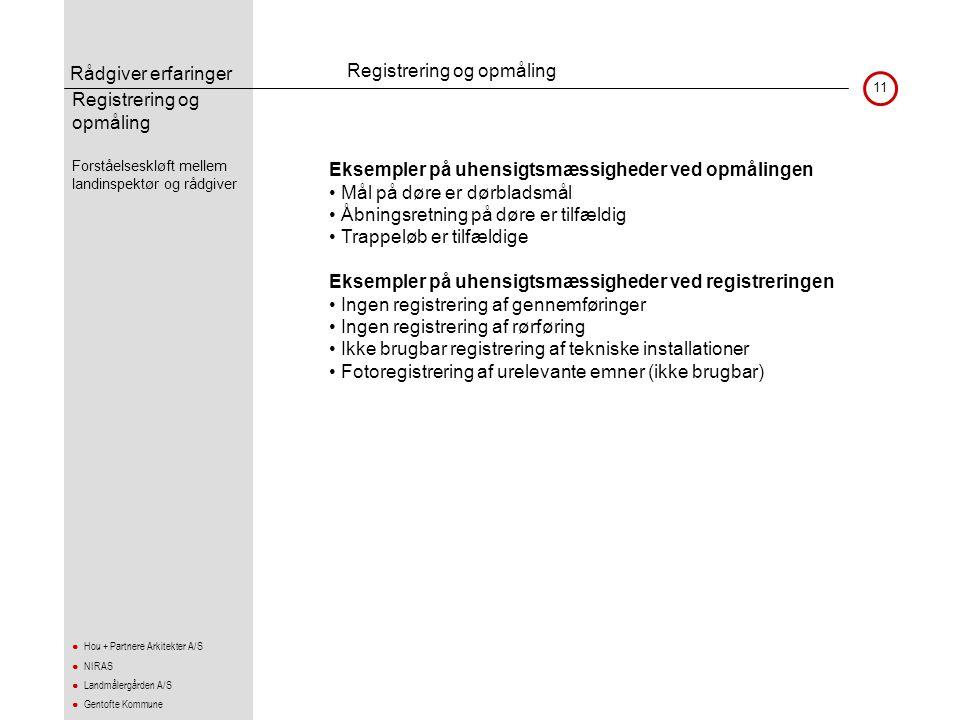 Registrering og opmåling