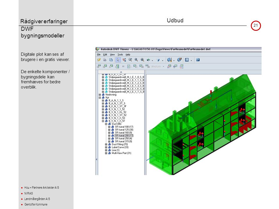 Udbud DWF bygningsmodeller