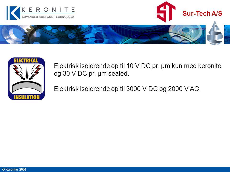 Elektrisk isolerende op til 3000 V DC og 2000 V AC.