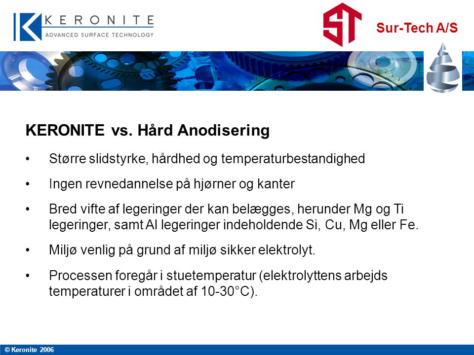 KERONITE vs. Hård Anodisering