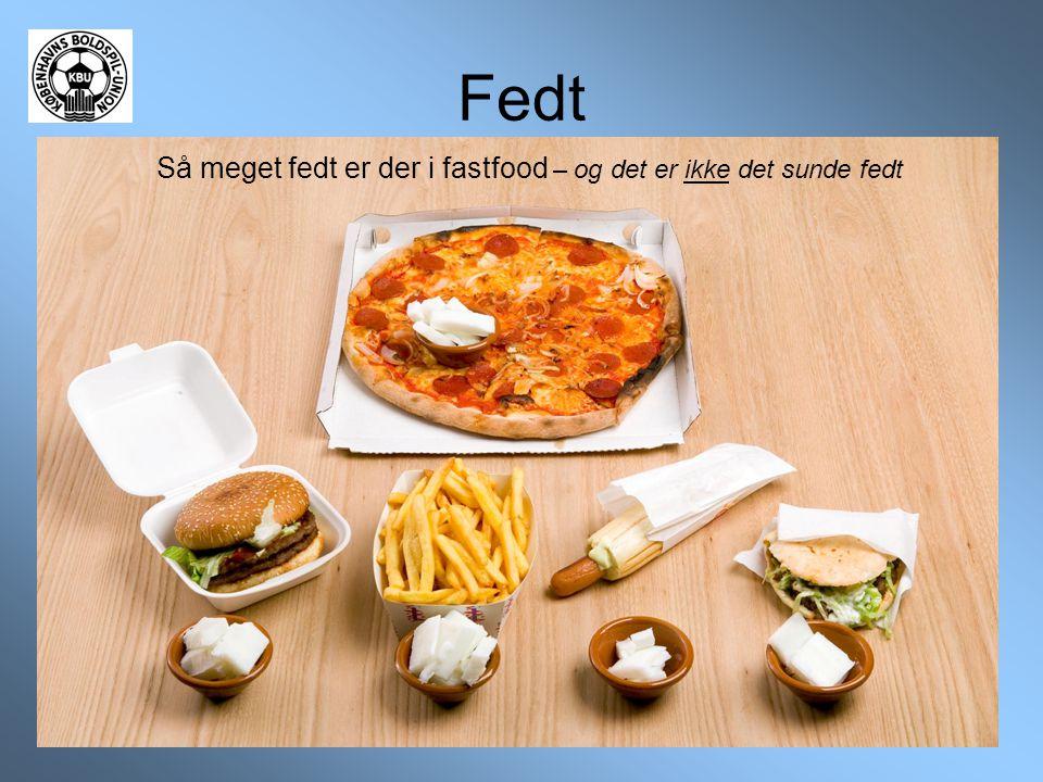 Så meget fedt er der i fastfood – og det er ikke det sunde fedt