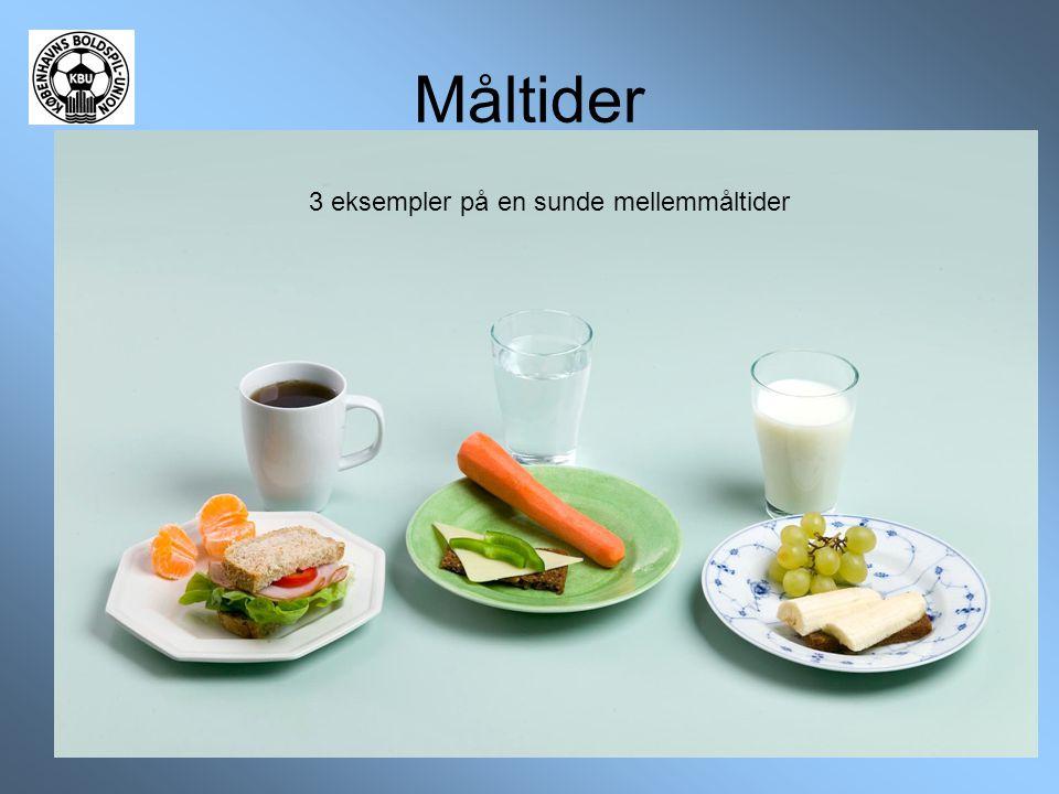 3 eksempler på en sunde mellemmåltider