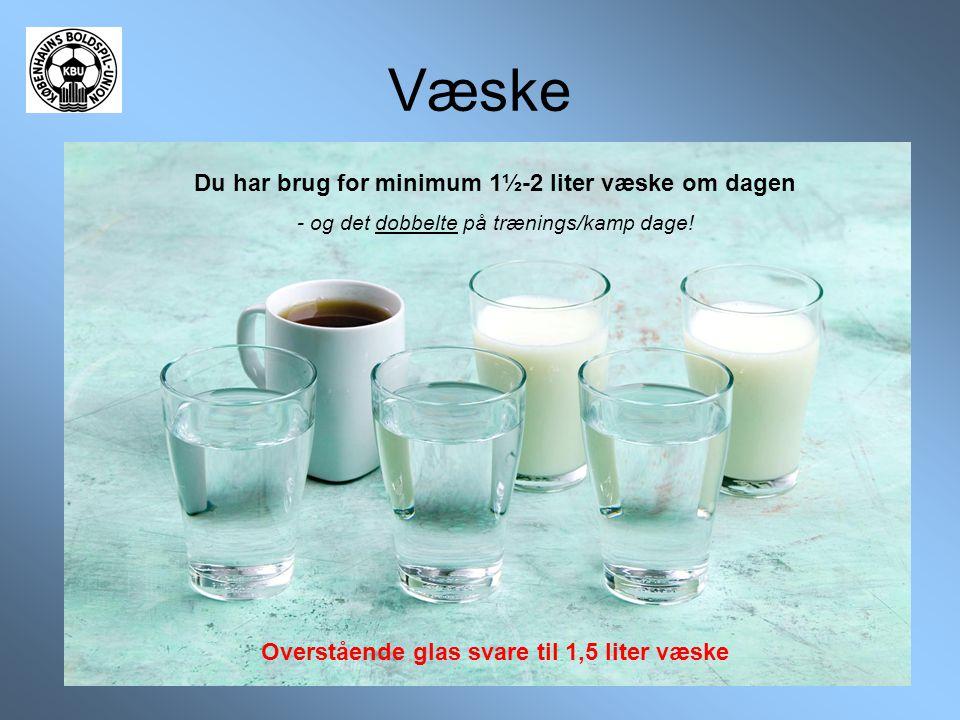 Væske Du har brug for minimum 1½-2 liter væske om dagen