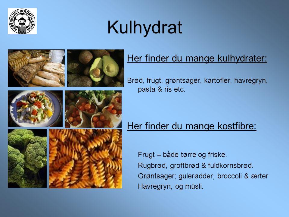 Kulhydrat Her finder du mange kulhydrater: