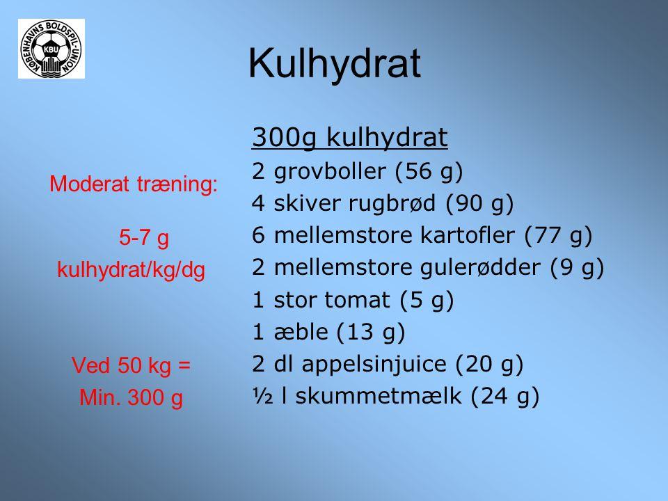 Kulhydrat 300g kulhydrat 2 grovboller (56 g) 4 skiver rugbrød (90 g)