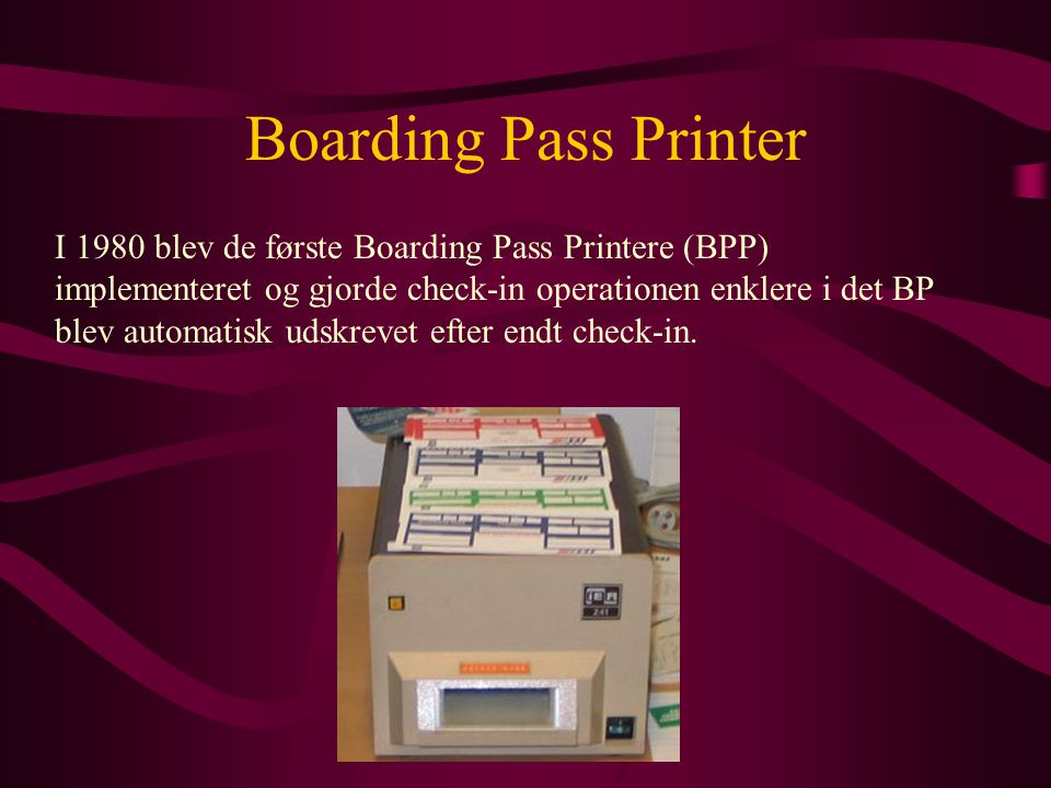 Boarding Pass Printer