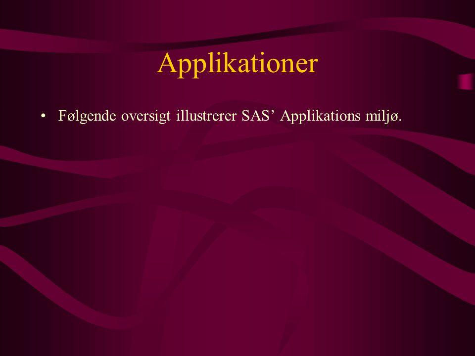 Applikationer Følgende oversigt illustrerer SAS' Applikations miljø.