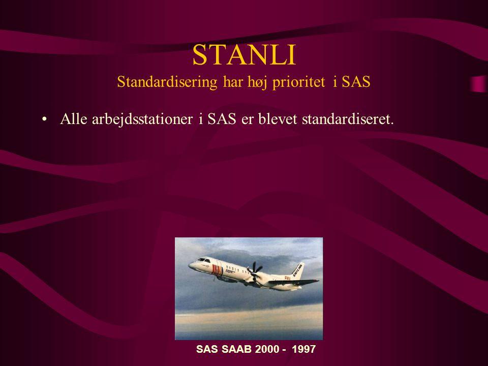 STANLI Standardisering har høj prioritet i SAS