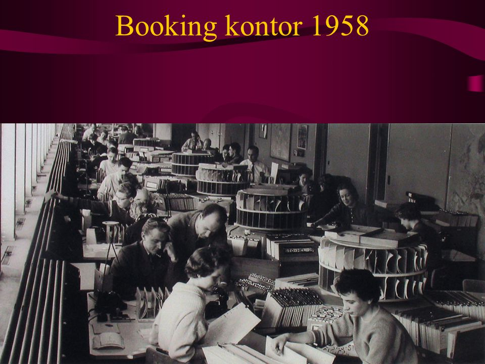 Booking kontor 1958