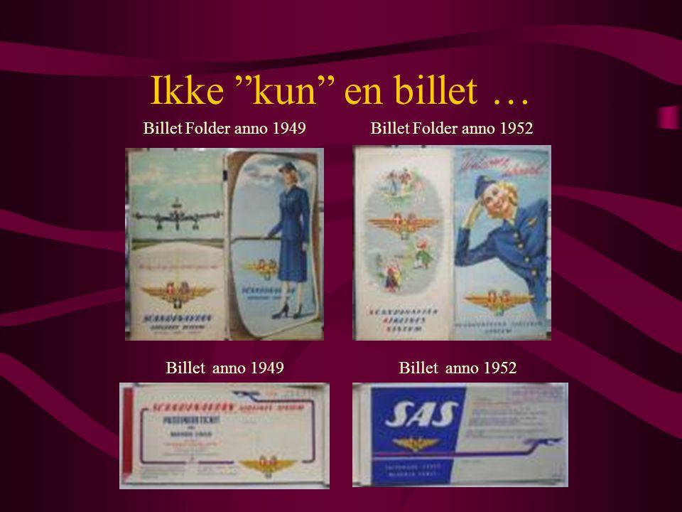 Ikke kun en billet … Billet Folder anno 1949 Billet Folder anno 1952