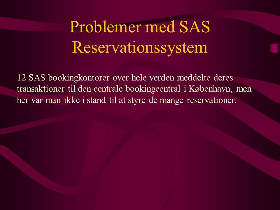 Problemer med SAS Reservationssystem