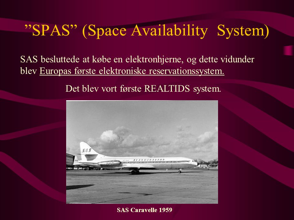 SPAS (Space Availability System)