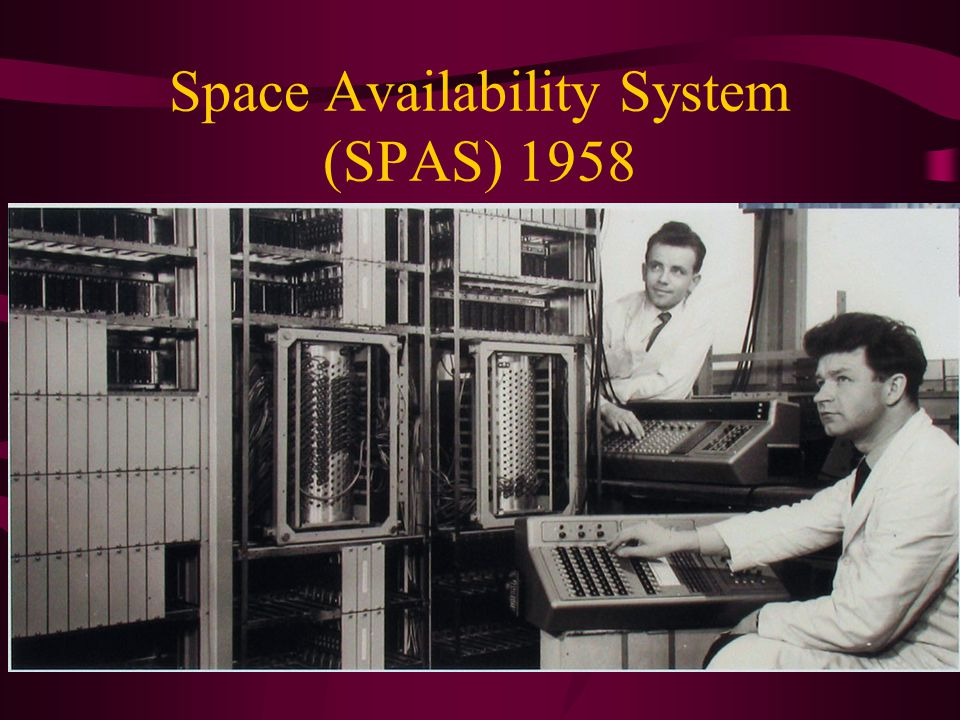 Space Availability System (SPAS) 1958