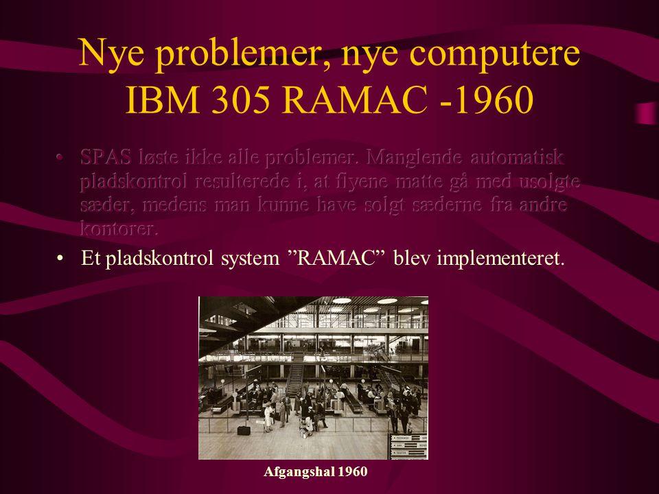 Nye problemer, nye computere IBM 305 RAMAC -1960