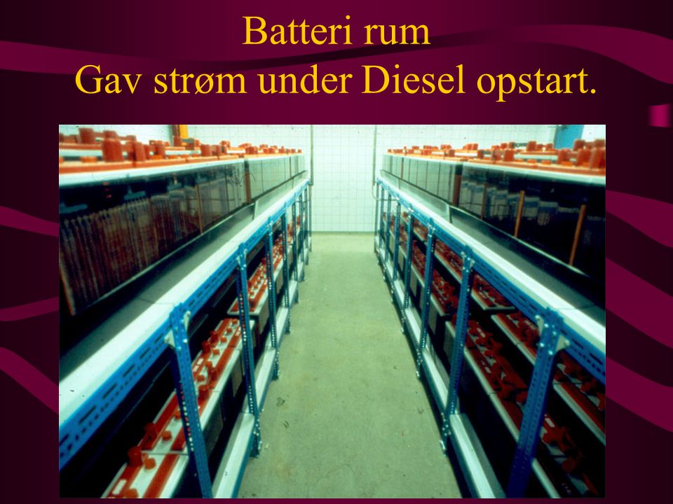 Batteri rum Gav strøm under Diesel opstart.