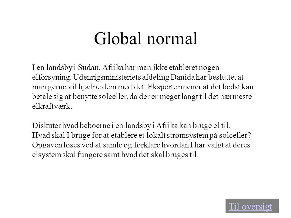 Global normal Til oversigt