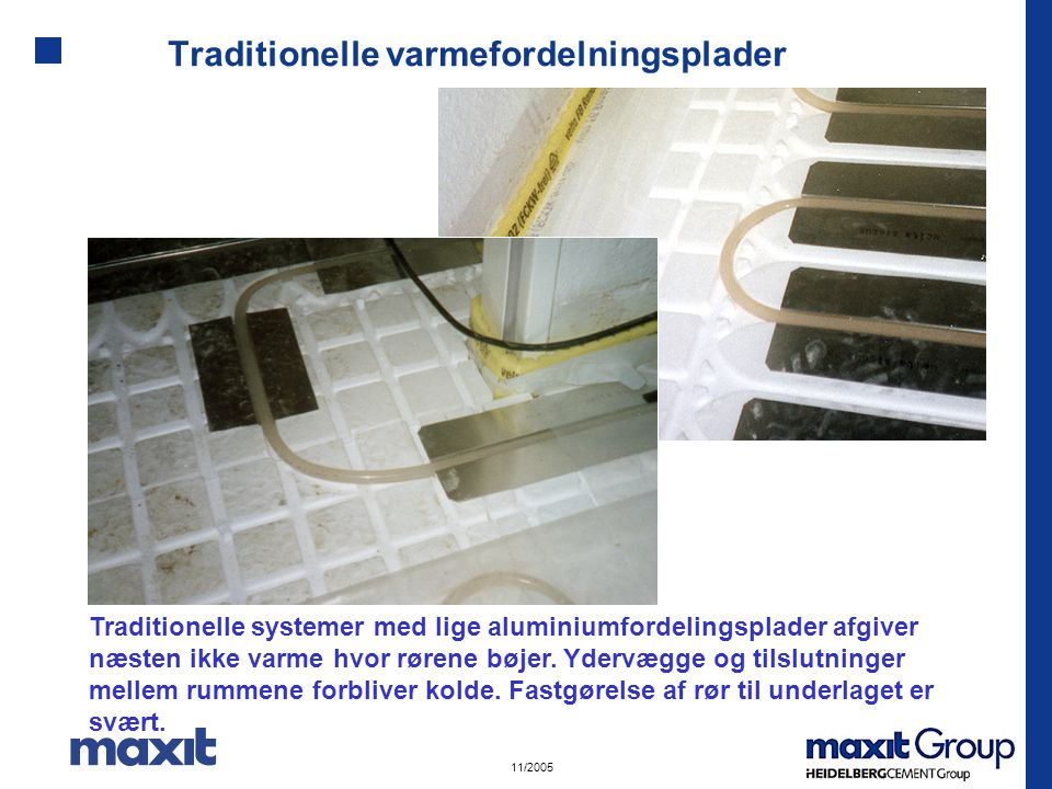 Traditionelle varmefordelningsplader