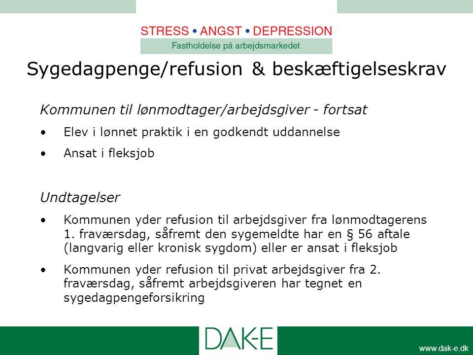 Sygedagpenge/refusion & beskæftigelseskrav
