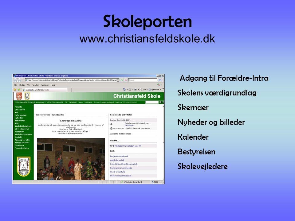 Skoleporten www.christiansfeldskole.dk