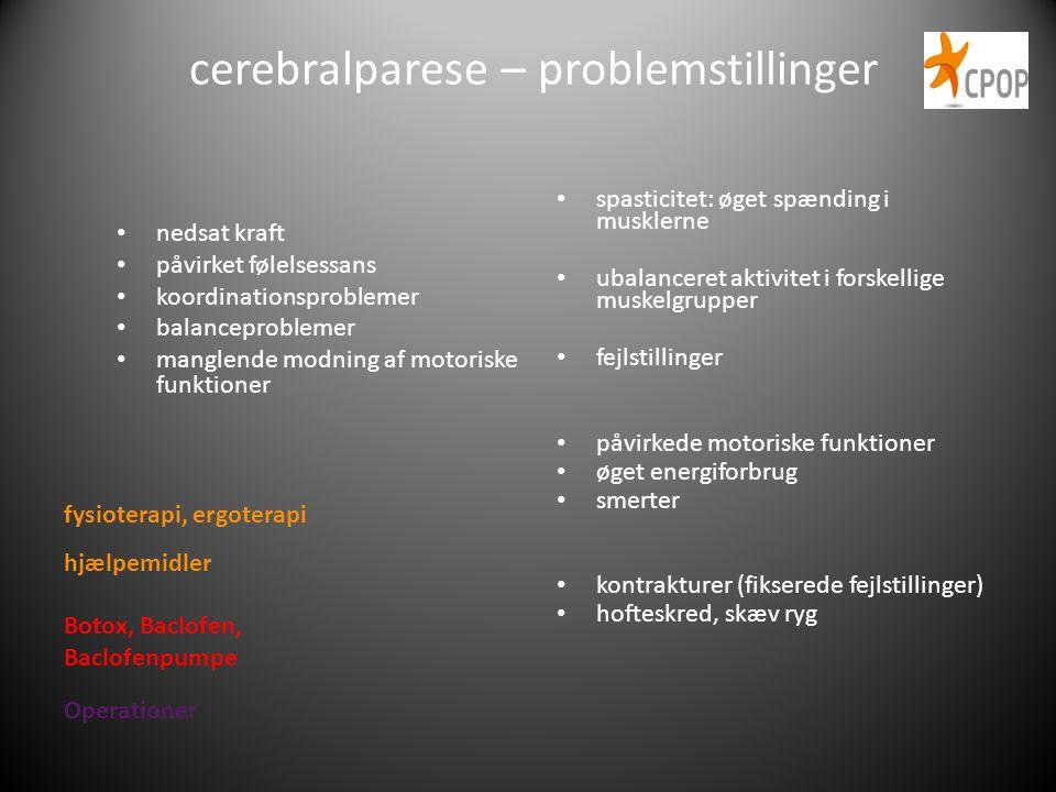 cerebralparese – problemstillinger