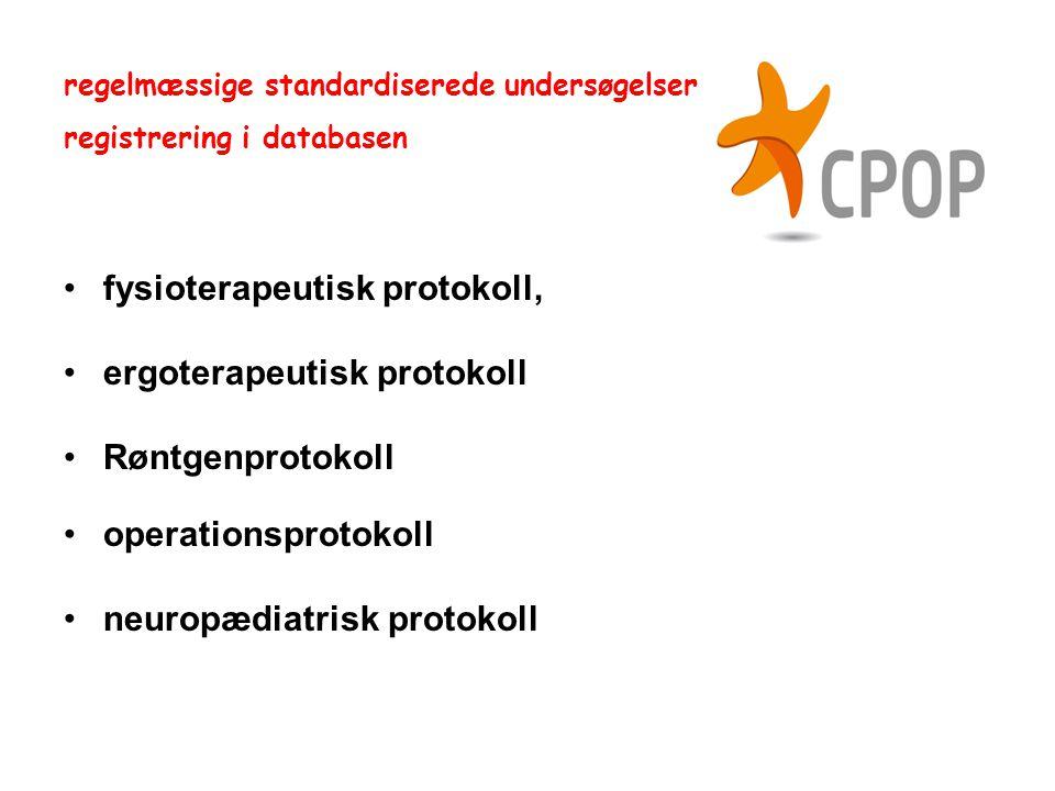fysioterapeutisk protokoll, ergoterapeutisk protokoll Røntgenprotokoll