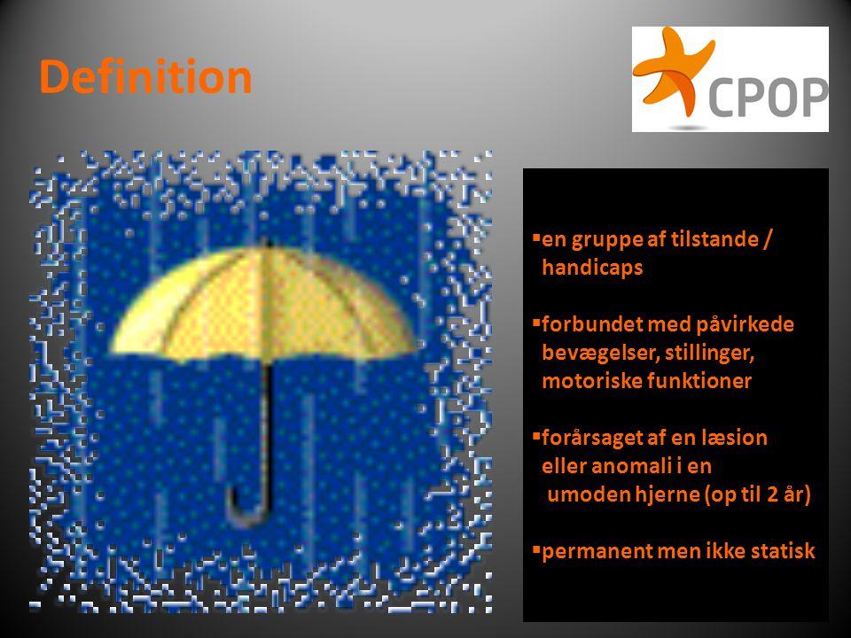 Definition en gruppe af tilstande / handicaps forbundet med påvirkede