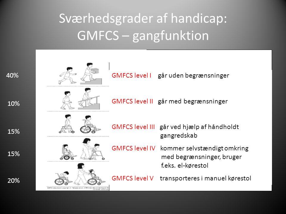 Sværhedsgrader af handicap: GMFCS – gangfunktion