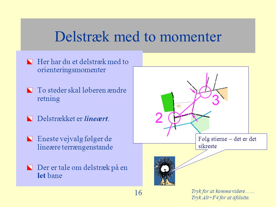 Delstræk med to momenter