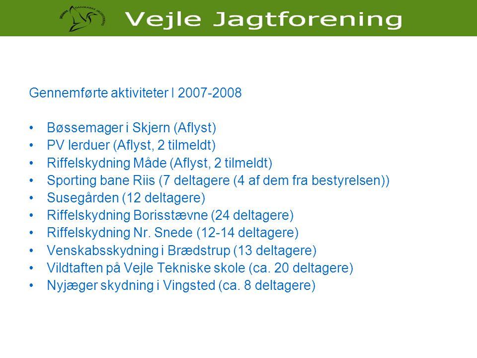 Gennemførte aktiviteter I 2007-2008