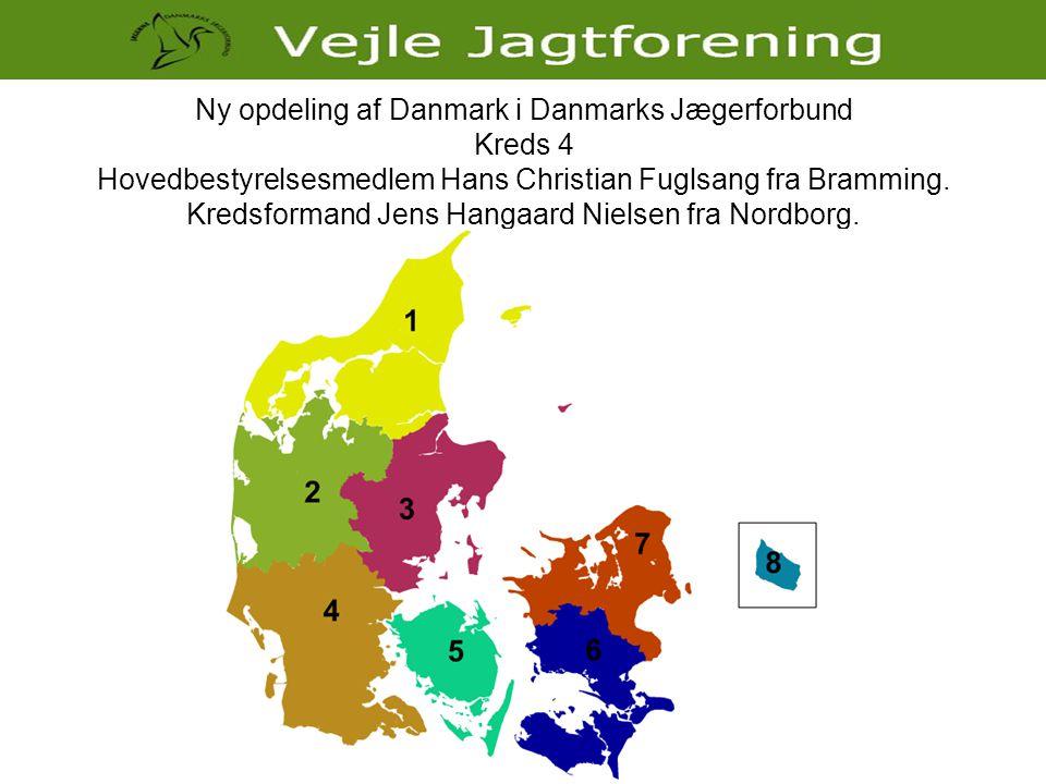 Ny opdeling af Danmark i Danmarks Jægerforbund Kreds 4 Hovedbestyrelsesmedlem Hans Christian Fuglsang fra Bramming.