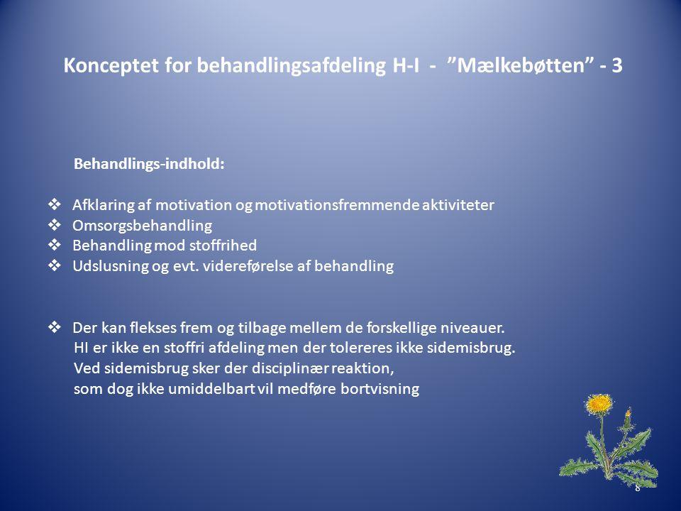 Konceptet for behandlingsafdeling H-I - Mælkebøtten - 3