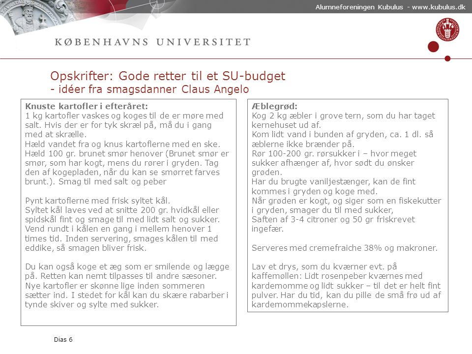 Alumneforeningen Kubulus - www.kubulus.dk